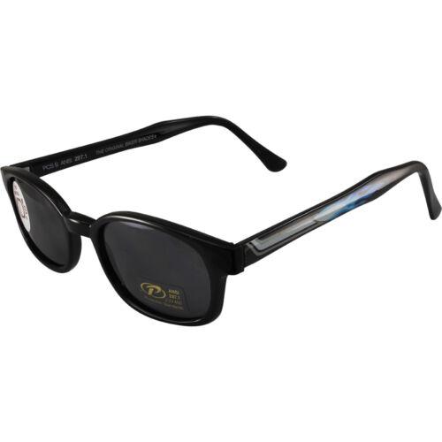 KD/'s Sunglasses Original Biker Shades Motorcycle Pipe Frame Smoke Lens 2227