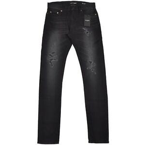 SAINT-LAURENT-750-Low-Waist-Distressed-Stretch-Denim-Jeans-by-Hedi-Slimane