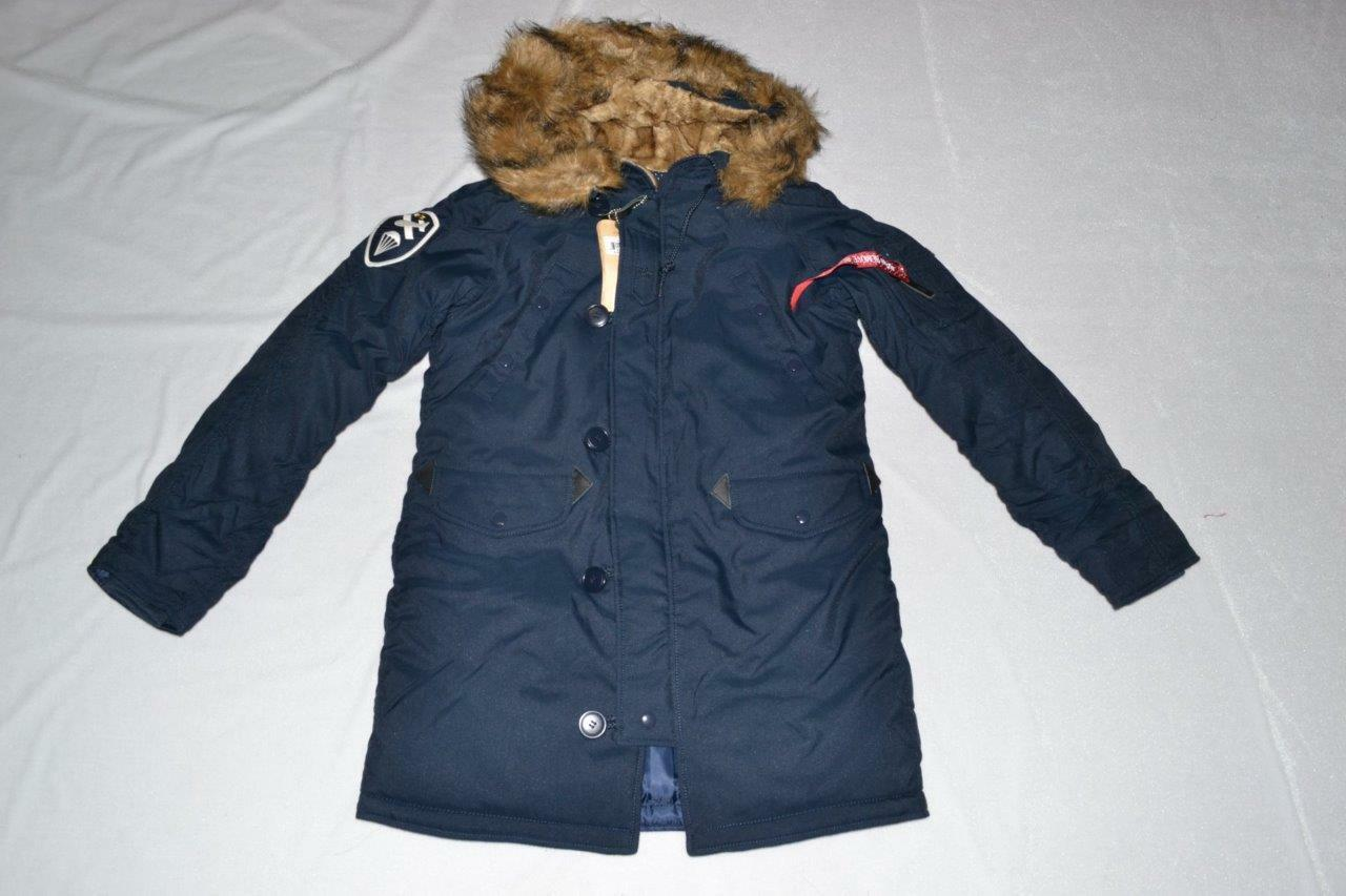 AUTHENTIC ALPHA INDUSTRIES WOMENS ALTITUDE PARKA REPLICA blueE L LARGE NEW