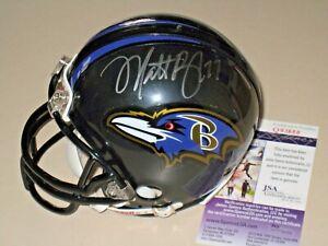 Matt Birk #77 signed Baltimore Ravens NFL Mini Helmet JSA #Q93688
