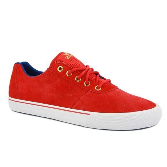 Supra Cutler Low Sneakers London 2012 Limited Edition Red Suede Size 12