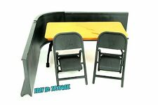 WWE JAKKS MATTEL ELITE Wrestling FIGURE Accessory LOT- TABLE CHAIRS BARRICADE