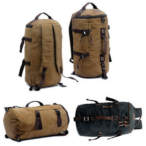 32L Large Heavy Duty Duffle Bag Canvas Holdall Military Backpack ... f07350898fc
