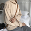 Women-Cashmere-Mink-Fur-Pullover-Sweater-Oversized-Loose-Stretch-Top-Coat-Jacket thumbnail 3