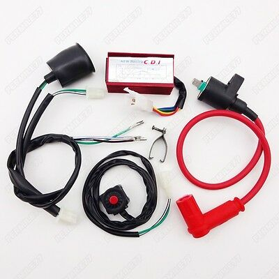 Race Ignition Coil CDI Wiring Loom Kill Switch 125 140 150 160 cc Pit Dirt Bike