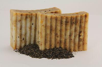 Greek 100% Handmade Olive Oil Soap Green Tea & Black Tea +3 Oils