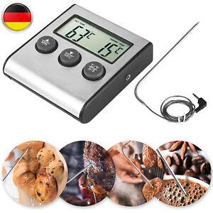 Digital Einstichthermometer Küchenthermometer Ofenthermometer Bratofen Backofen
