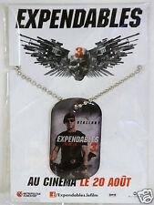 pendentif plaque militaire film EXPENDABLES 3 chainette collier Gi Stallone