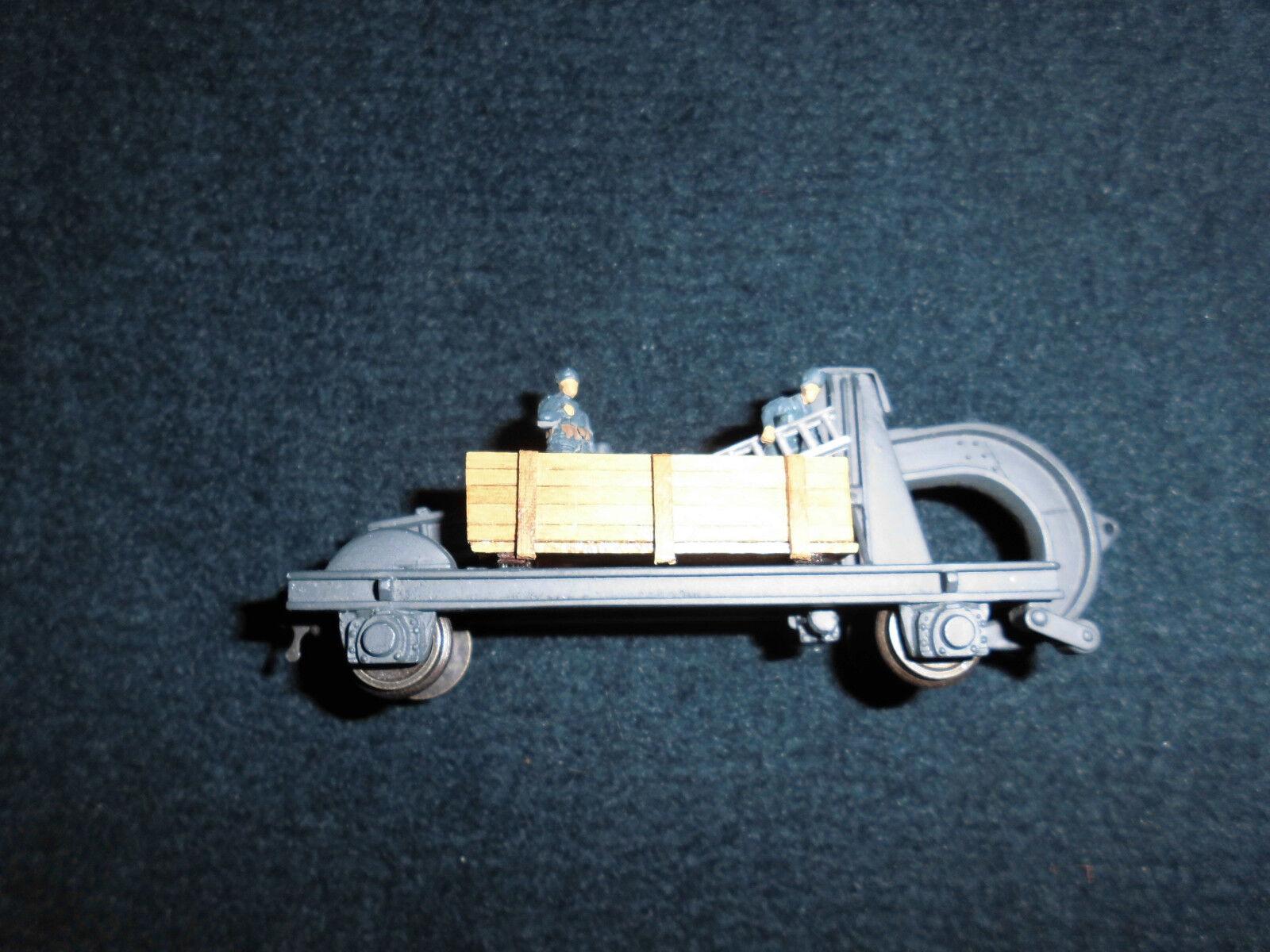 Pocher arnaldo ar-po-h0 carro arpione 2 assi c1 Nr. 67-all metal-Wood Case