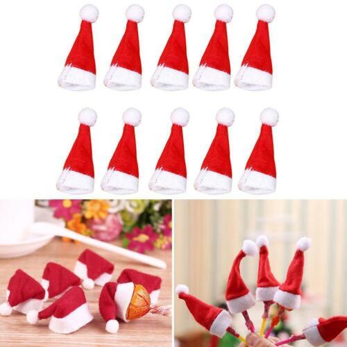 10pcs Mini Santa Claus Hat Christmas Decor Party Xmas Holiday TopFavor Loll C1A1