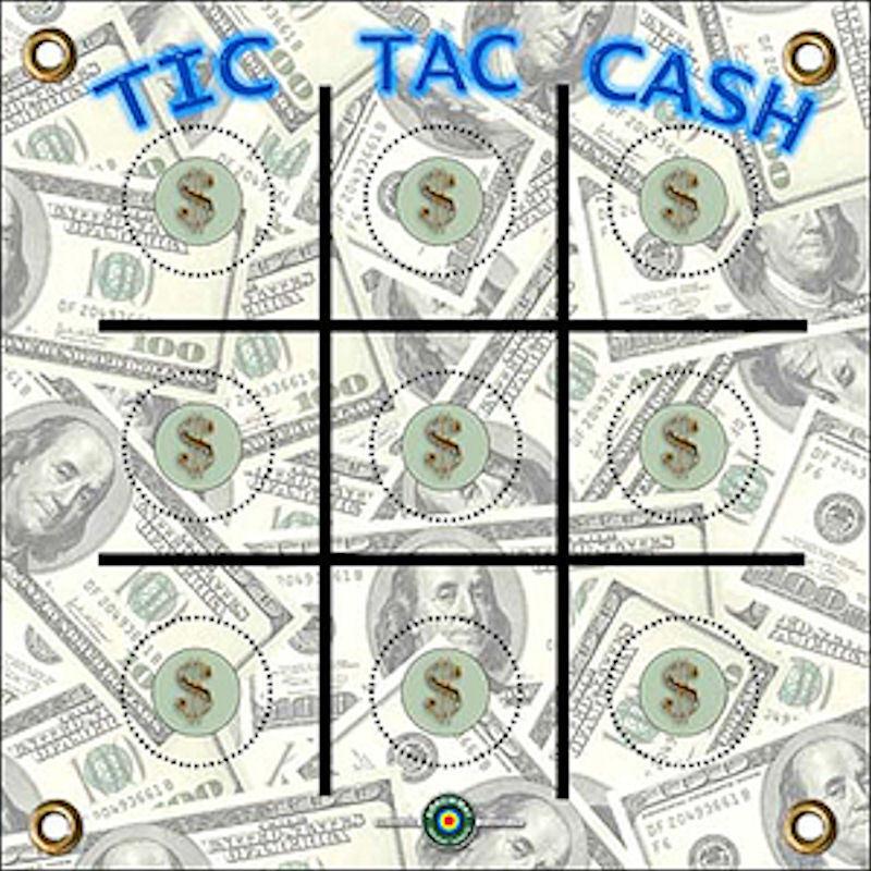 ARCHERY TARGET -1500 PLUS SHOTS  TIC TOC CASH 17 X 17