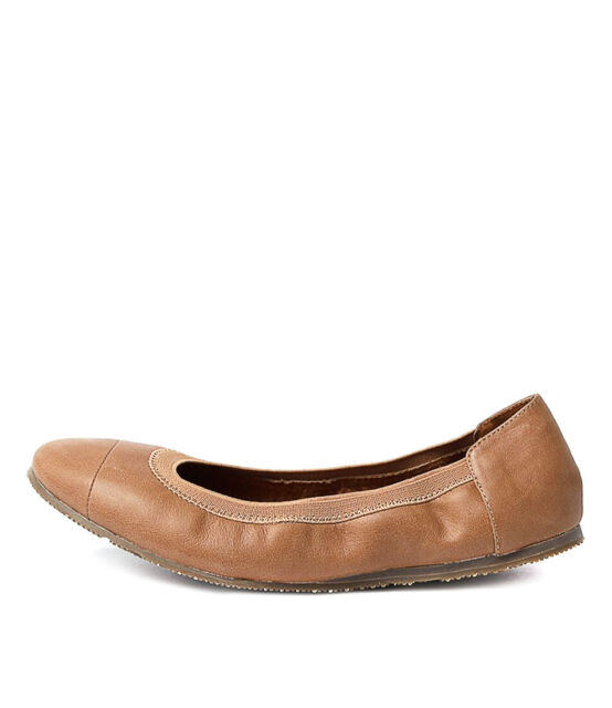 New Walnut Ava Ballet Black Womens Shoes Casual Shoes Flat