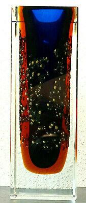 Offen Pavel Hlava Exbor Vintage Böhmische Sommerso Design Abstrakt Kunstglas Vase 1965 GroßE Vielfalt