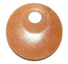 P2138f Red Aventurine Go-Go Donut Round 45mm Natural Gemstone Focal Pendant