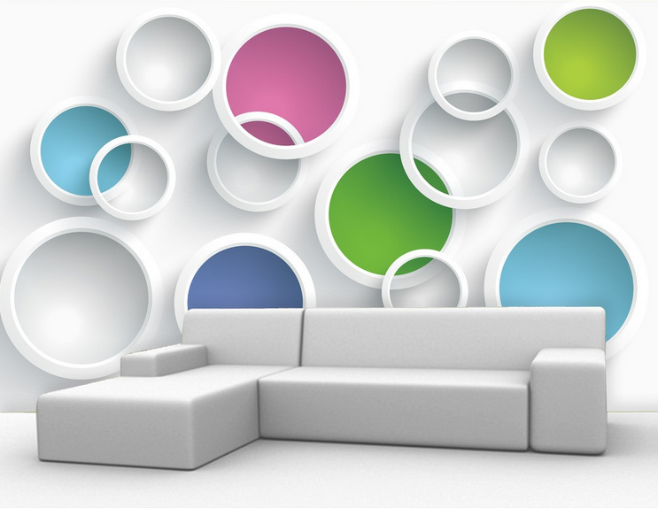 3D Farbige Ringe 7532 Tapete Wandgemälde Tapete Tapeten Bild Familie DE Summer | Vielfältiges neues Design  | Reichlich Und Pünktliche Lieferung  | Bestellungen Sind Willkommen