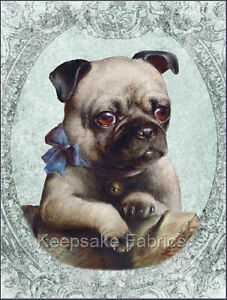 Details about Fabric Block Pug Dog Portrait Multi Szs FrEE ShiPPinG WoRld  WiDE (C3