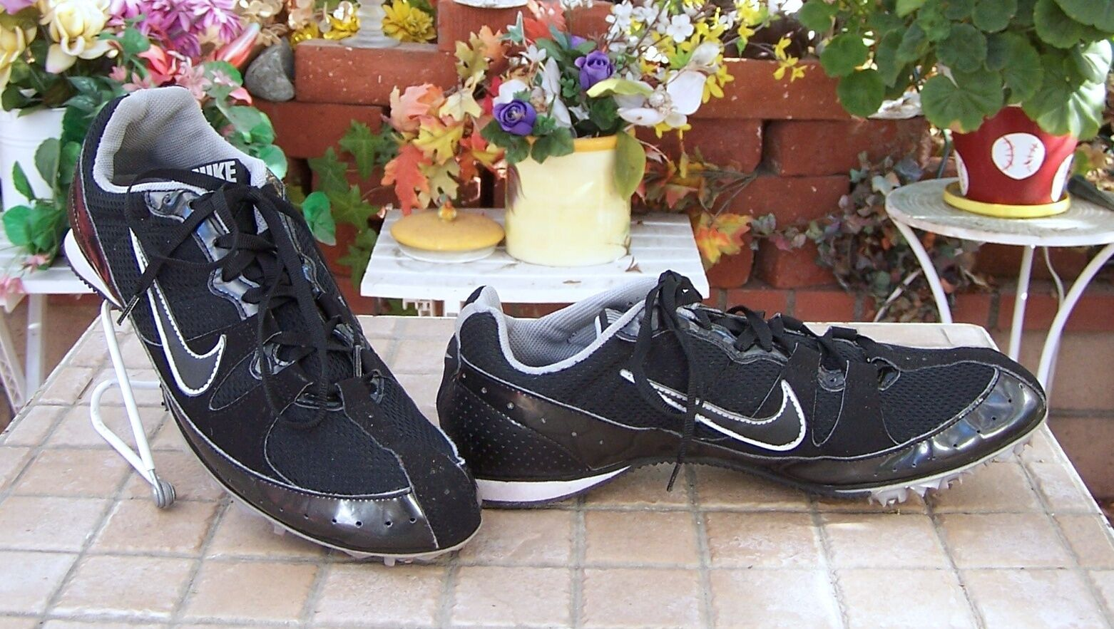 NIKE  TRACK FIELD RUNNING CLEATS SHOES 383823 ZOOM RIVAL  MEN'S BLACK SIZE 8.5 Seasonal clearance sale
