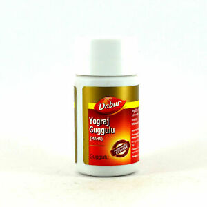 Dabur-Herbal-Guggulu-Yograj-Yogiraj-Guggul-120-Tablets-Free-Shipping