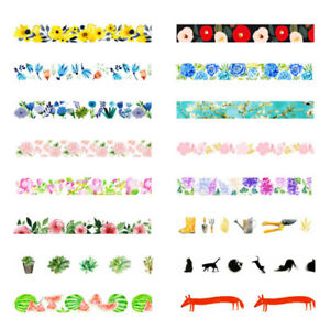 Decorative-Roll-Washi-Tape-Sticky-Paper-Masking-Adhesive-Craft-Colorful-DIY