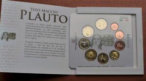 Euro set BU Italie 2016 avec la 2 euros Plaute envoi ordinaire France GRATUIT