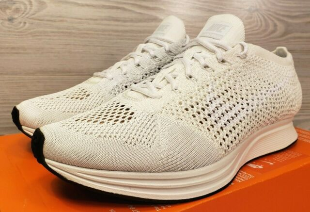 official photos f7c00 14057 Nike Flyknit Racer Goddess Running Training White Fashion 526628-100 Size 9