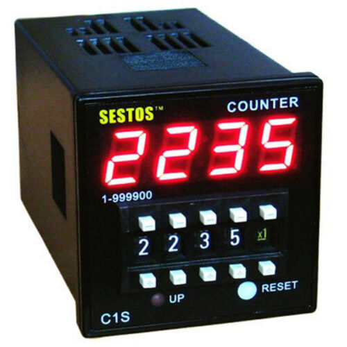 C1S-R-220 SESTOS DIN Digital Counter Industry Omron Coded Switch AC100-240V