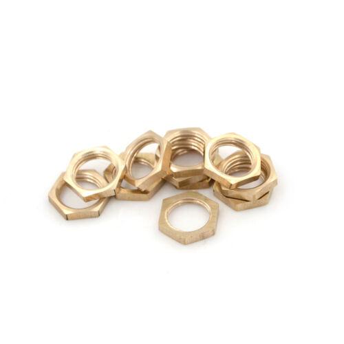 """10PCS 1//4/"""" P Female Thread Brass Hex Lock Nuts Pipe Fittin.USHH"""