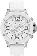 A X Men's Armani Exchange Chronograph White Silicone Strap Watch AX1525