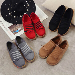 Women-039-s-Leather-Moccasin-Shoes-Casual-Flats-Driving-Peas-Loafers-Walking-Slip-On