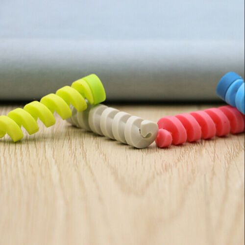 4Pcs cable protector bobbin winder data line case rope spring twine protection H
