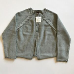 TEA-COLLECTION-Girls-AGATHA-CABLE-Cardigan-Cotton-Sweater-Size-12-XL-NWT