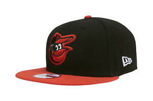 a6d80aea298d0 New Era 9Fifty Hat Cap Baltimore Orioles Black Orange Baycik ...