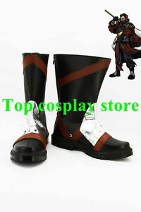 Final Fantasy 10 FF10 Auron Cosplay Shoes Boots Custom Made