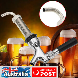 Auto-Close-Beer-Tap-Faucet-Draft-With-80mm-Long-Shank-For-Homebrew-Kegerator-AU