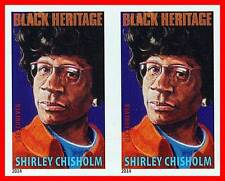 USA 2014 Shirley Chisholm NO CUTS /imperforated HORIZONT PAIR MNH BLACK HERITAGE