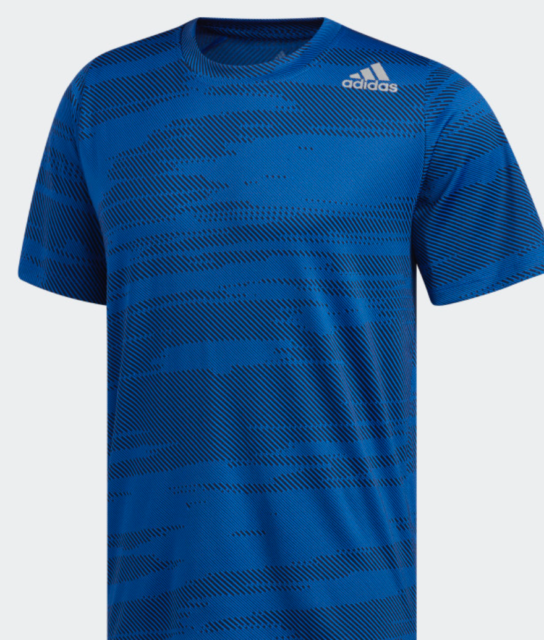 Adidas Men's Freelift Winterized Jacquard Blue T-Shirt Size Small NEW