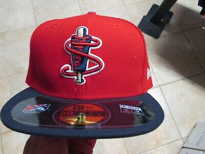 7 1//2 NWT $38 RED//NAVY LOWELL SPINNERS MINOR LEAGUE NEW ERA FITTED HAT 5950
