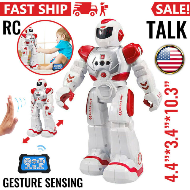 RC Red Robot Toy, Talking Dancing Robots for Kids Remote Control Robotic Toys