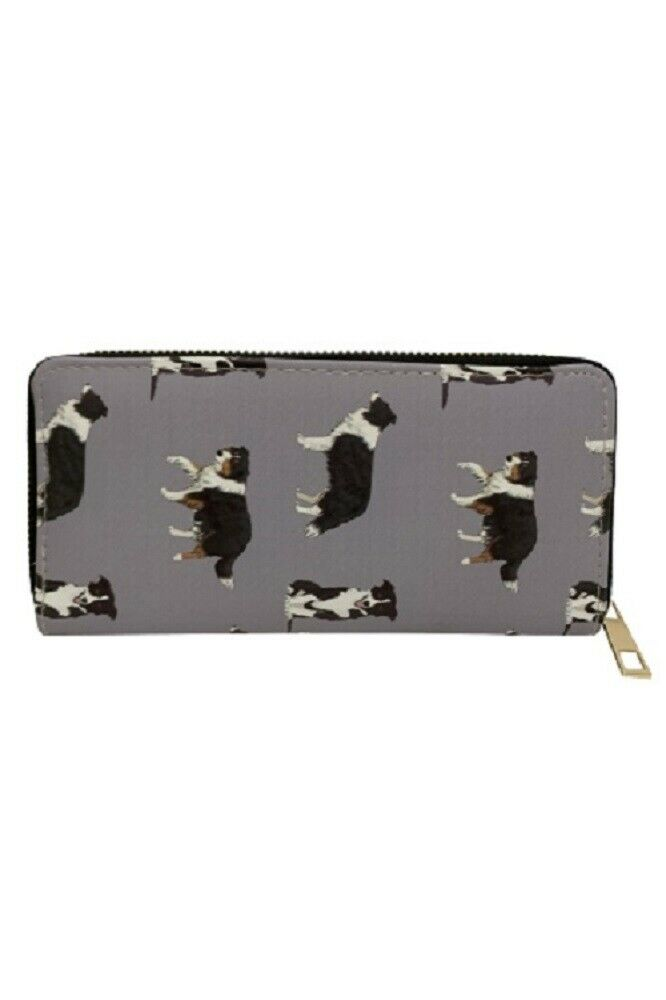 Furever Gifts Border Collie Dog Grey Purse Polyurethane 10 x 19.5cm 1 Piece