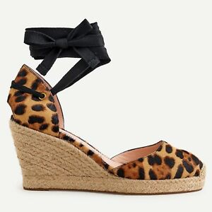 J Crew NWT $148 Espadrille Wedges in