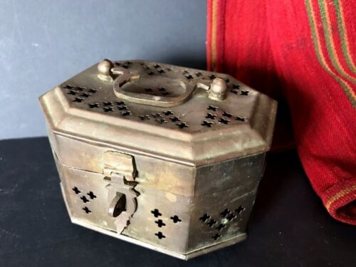 Old Turkish Brass Hammam Turkish Bath Soap Box beautiful collection item