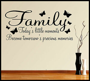 Wall Art Sayings family wall art sticker quote words phrases sayings home decor diy
