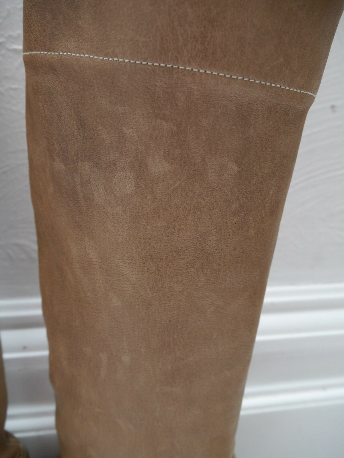 NEW BRUNELLO CUCINELLI  2k light brown brown brown leather knee high boots Italian size 37 29fda6