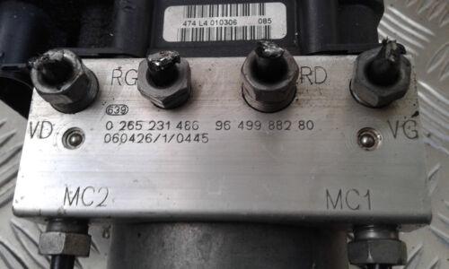 Réf 0265231486-9649988280 Bloc Hydraulique ABS BOSCH PEUGEOT 307 CITROEN C4
