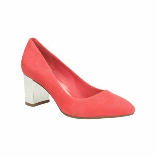 CLARKS BLISSFUL CLOUD CORAL COMBI LADIES SMART COURT SHOES