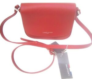 Vera Pelle Colore Shopping Rosso Handbags Borsa Lancaster Tracolla Paris ZBnfXqT4T