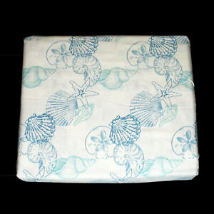 Panama Jack Island Breeze Blue Seashell 4 Pc 100 Cotton