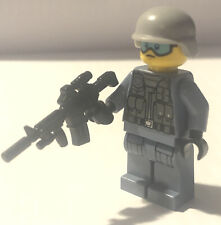 SWAT K-9 Police Officer minifigure Cop TV show  movie toy figure!