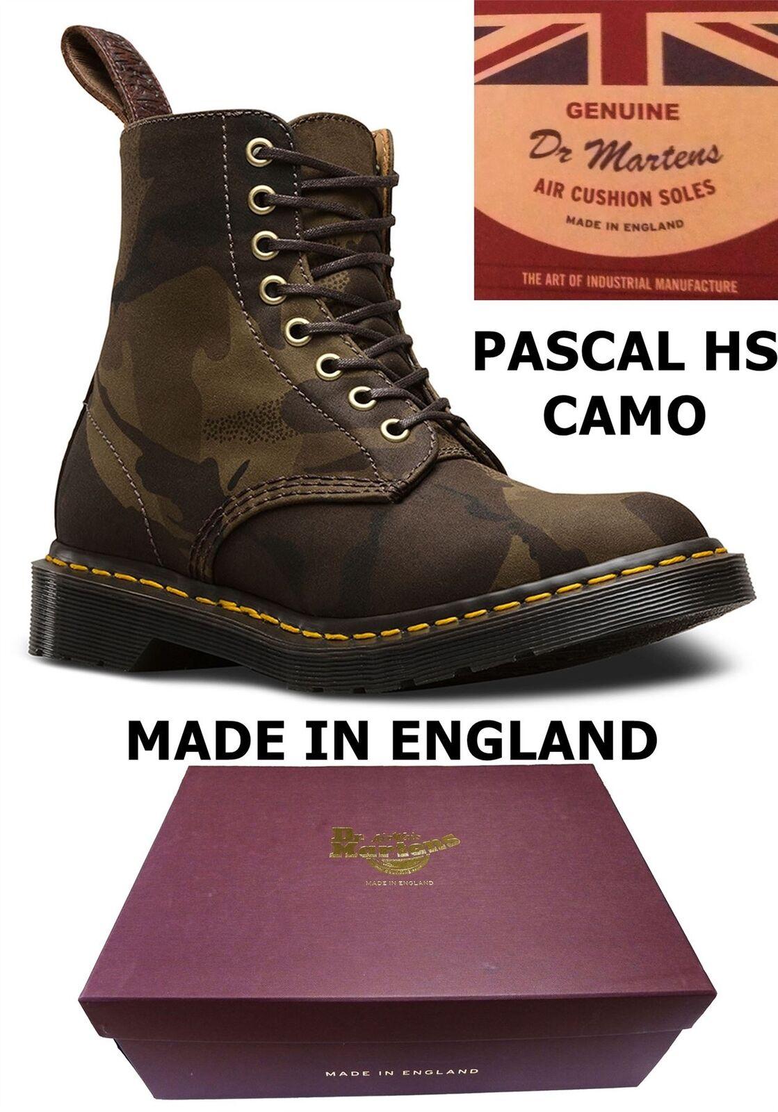 f81868cf2c393 Dr Martens Pascal Halley Stevensons Stevensons Stevensons Military Print  Made In England Camo botas d5f8fc