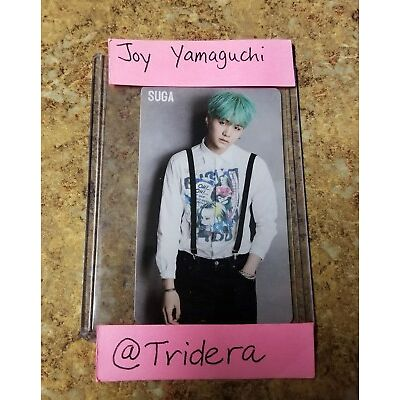 BTS Run Suga Photo Card Bangtan Boys Top Loader PC KPOP JPOP Japan Japanese